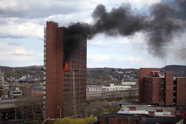 Albany Proper Fire Breaks Out In Downtown High Rise